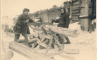 Дед с бабою старались - пилили избу на дрова. Bol. Ushin, jan.1942, фото №1